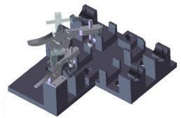 オリジナル機器・パーツ設計製作、中子接着冶具2