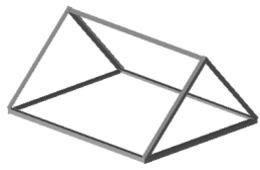 学校様オリジナルパーツ設計製作、小屋屋根
